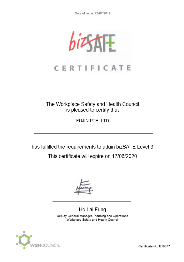 Certificate - Safe ducting company